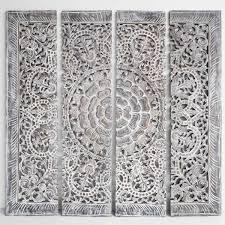 mandala wood carving wall art paneling