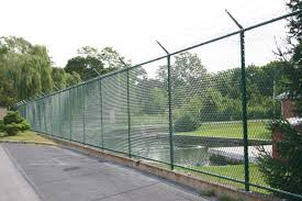 chain link fence. Safety Logo Chain Link Fence S