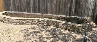 raised garden bed using stamp concrete
