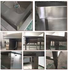 high quality commercial stainless steel fish cleaning table with sink