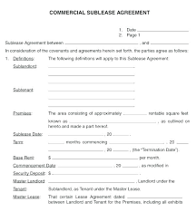 Sample Office Lease Commercial Lease Agreement Template Free Sample ...