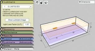 Lighting Coverage Chart Lighting Layout Calculator Indoor Outdoor Lighting