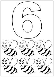 Kleurplaat Cijfer 6 Topkleurplaatnl