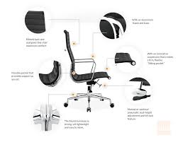 eames office chair ribbed executive chair