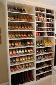 Shoe wall in Walk in Closet