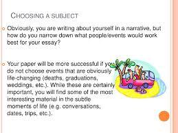narrative essay presentation ii writing a narrative<br > 8