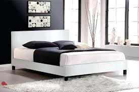 white faux leather bed frame