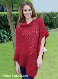 Knit Poncho Pattern Amazing Asymmetric Poncho Knitting Pattern Free