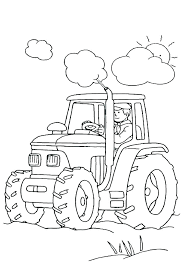 Coloring Pages Tractors John Coloring Pages Free Visitpollinoinfo