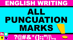 All Punctuation Marks What Is English Punctuation Youtube