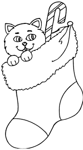 Small Picture Stocking Coloring Page Plain Christmas Stocking Coloring