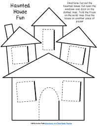 Haunted House Lift The Flap Template Halloween Haunted