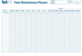 A1 Vehicle Maintenance Record Wall Chart