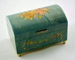 I used a 3 song sankyo orpheus the box is finished in boiled linseed oil. Amazon Com Made In Italy Sorrento Sky Blue Music Jewelry Box Music Box Dancer Sankyo 18 Note Home Kitchen