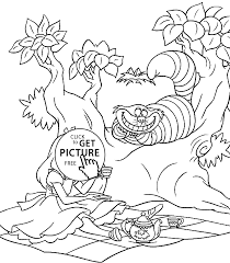Small Picture Coloring Download Alice In Wonderland Tea Party Coloring Pages