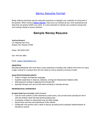 Nanny Job Responsibilities Resume Nanny Resume Nanny Resume Examples Are Made For Those Who Are 41