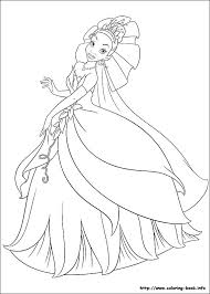 tiana coloring pages the princess