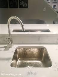 My Basement Wet Bar With Quartz Countertop Hammered Nickel Sink