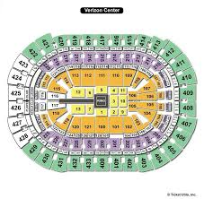 Verizon Center Seating Chart For Hockey Capital One Arena Washington Dc Seating Chart View