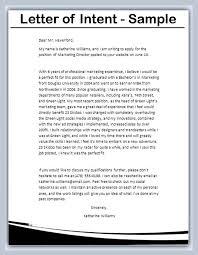 Letter Of Intent Letter Of Intent Lettering Letter Example