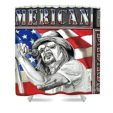 artistic shower curtains. Lovely Badass Shower Curtains Kid Rock Curtain Featuring The Drawing By Still Vinyl Artistic A