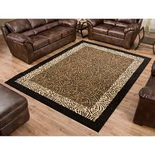 terra safari woven olefin rug black tan com intended for and brown area rugs ideas 3