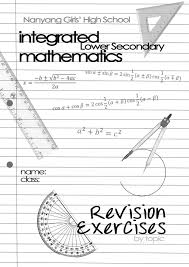 Maths Cover Design Visualistic Math Revision Booklet Cover Design