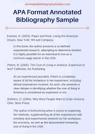 Apa Format For Annotated Bibliography Term Paper Example Research