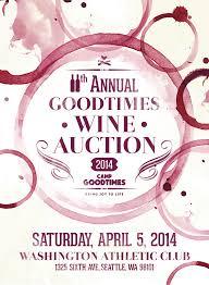 Auction Invitations 11th Annual Goodtimes Wine Auction Invitation