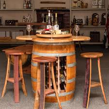 Wine Barrel Kitchen Table Napa East Wine Barrel 5 Piece Counter Height Table Set With Open
