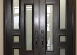 Modern Entry Doors.Exterior Brown Wooden Double Entry Doors With ...