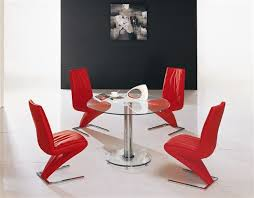 mini round glass chrome dining table and 4 chairs br strike