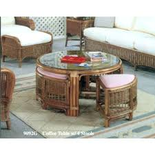 coffee table with fabric stools underneath chess seats remarkable round coffee table with stools