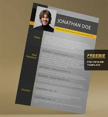 Free Resume Template Psd Image Gallery For Website Free Creative