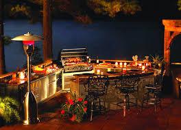 outdoor kitchen lighting. Modern Style Outdoor Kitchen Lighting With