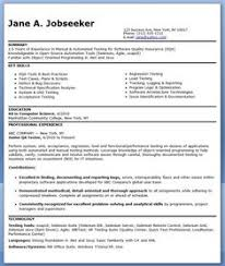 Quality Assurance Resume Example Resume Examples Sample Resume