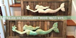 wooden mermaid wall hanging wooden mermaid wall art trusted wooden mermaid wall decor color little plus
