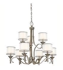 kichler 42382ap lacey 9 light 34 inch antique pewter chandelier ceiling light