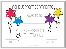 Attendance Award Certificate Templates Emmaplays Co