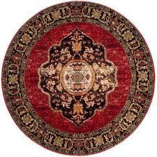 vintage hamadan red multi 7 ft x 7 ft round area rug