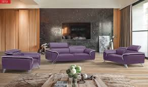 Italian Leather Living Room Furniture 1513 Italian Leather Living Room Set In Purple Free Shipping