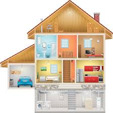 pin House clipart cross section #9