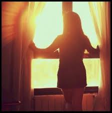 Sol batendo na janela