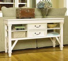 Wonderful White Sofa Table With Storage Console Behind Accessories Simple Ideas