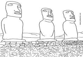 Small Picture Moai of easter island coloring pages Hellokidscom