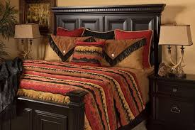coverlet sets king with southwestern bedroom also burnt red coverlet deer silhouettes southwestern tree silhouettes
