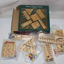 Wooden Peg Games Best Wooden Peg Games 100 Games Sealed for sale in London Ontario 25