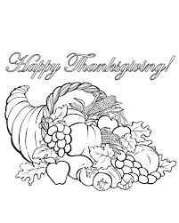 Simple Cornucopia Coloring Page Free Cornucopia Coloring Pages