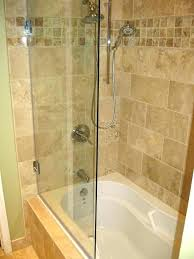 glass tub doors bathtub wonderful sliding shower over door installation frameless delta curved