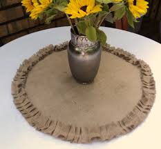 Burlap Round Table Overlays Round Burlap Table Centerpiece Burlap Table Topper With